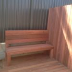 140x22 bench and jarrah decking boards not oiled to make deck, screen and bench