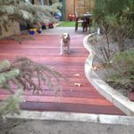 Photo of140x22mm jarrah decking oiled and screwd to pine subframe. Perth outdoor carpentry