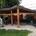 Custom enclosed pergola with a lean