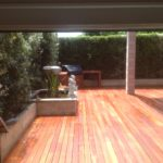 Merbau deck with BBQ