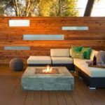 Timber wall with lighting