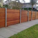 timber fencing with steel posts