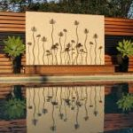 Poolside feature wall